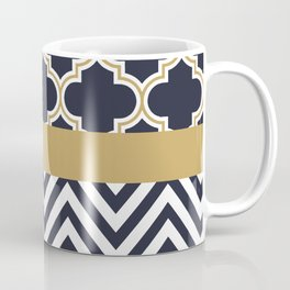 Quatrefoil & Chevrons Coffee Mug