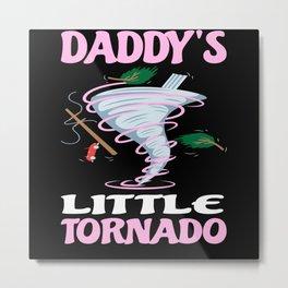 Daddy's Little Tornado Children's Storm Metal Print
