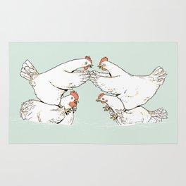 Chicken Fight Rug