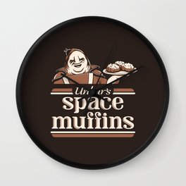 Space Muffins Wall Clock