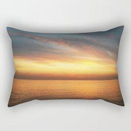 Sunset at Flisvos Beach in Athens Rectangular Pillow