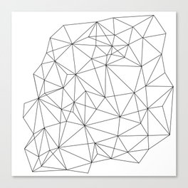 Wire Frame Gem Canvas Print