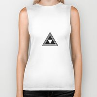 triforce Biker Tanks featuring triforce by Black