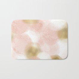 Rose Gold and Gold Blush Bath Mat