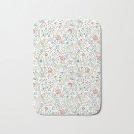 William Morris Pastel Floral Vine Pattern Bath Mat