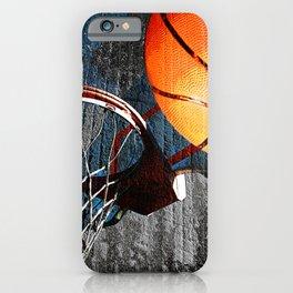 Basketball wall art swoosh 115 - Basketball art print iPhone Case