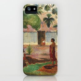 The Large Tree (1891) by Paul Gauguin iPhone Case