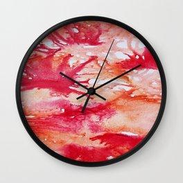 Sangria Splash Wall Clock