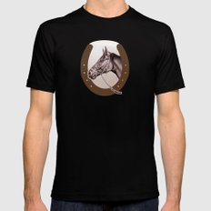 Sir Alfred - Racehorse Black MEDIUM Mens Fitted Tee