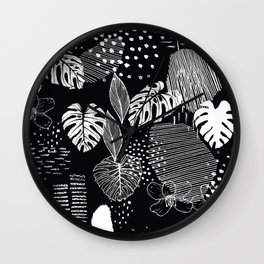 Issa Tropical B&W Wall Clock