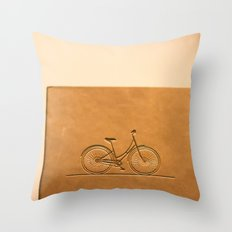 i like to ride my bicycle  Throw Pillow