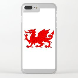 Welsh Dragon Clear iPhone Case