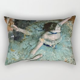 Edgar Degas - Dancer In Green.1877 Rectangular Pillow
