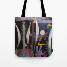 Landscape With Yellow Birds Paul Klee Tote Bag
