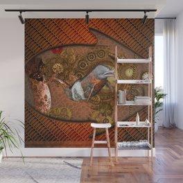 Steampunk, Wonderful dolphin Wall Mural