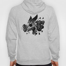 Skull 'n' Roses (NightmareNetty-Black&White) Hoody