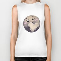 enerjax Biker Tanks featuring Pluto - I love myself by enerjax