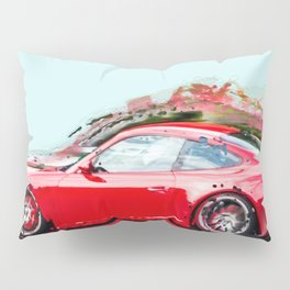 The Red Porsche Pillow Sham