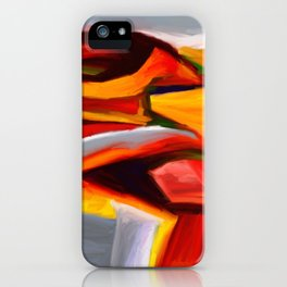 The Present Abstract Landscape iPhone Case