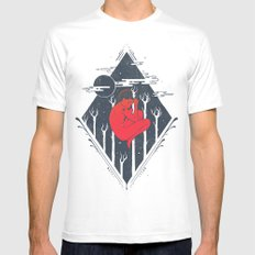 Cosmic Trance White MEDIUM Mens Fitted Tee