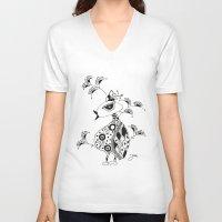 safari V-neck T-shirts featuring SAFARI by Fabi