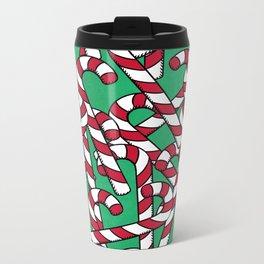 Candy Canes Metal Travel Mug