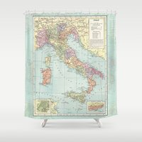 italy Shower Curtains featuring Vintage Italy by Catherine Holcombe