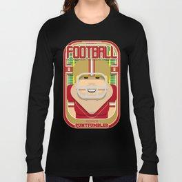 American Football Red and Gold - Enzone Puntfumbler - Sven version Long Sleeve T-shirt