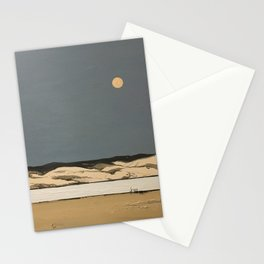 Moon landscape painting Stationery Cards