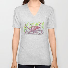 Giant Pacific Octopus Unisex V-Neck