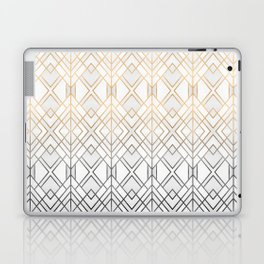 Gold And Grey Geo Laptop & iPad Skin