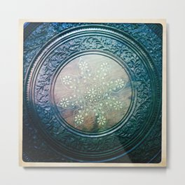 Round Art Metal Print