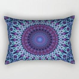Mandala in dark and light blue tones Rectangular Pillow