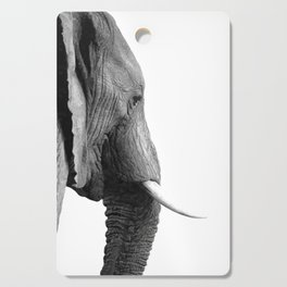 Black and white elephant portrait Cutting Board