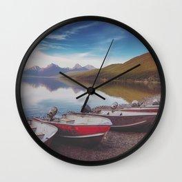 Lake McDonald Shore Wall Clock