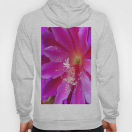 Fuchsia Heart of Purple Orchid Cactus Flower Hoody