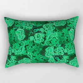 Malachite Puzzle Piece Tiles Rectangular Pillow