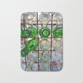 Glass my bottles in a rack Bath Mat