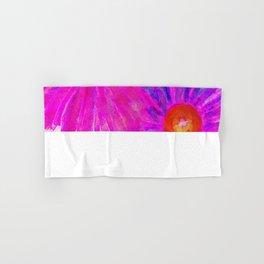 Bright Pink Sketch Flowers Hand & Bath Towel