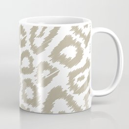 White sketch leopard pattern Coffee Mug
