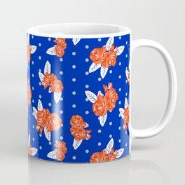 Florida fan gators university orange and blue team spirit football college sports florals Coffee Mug