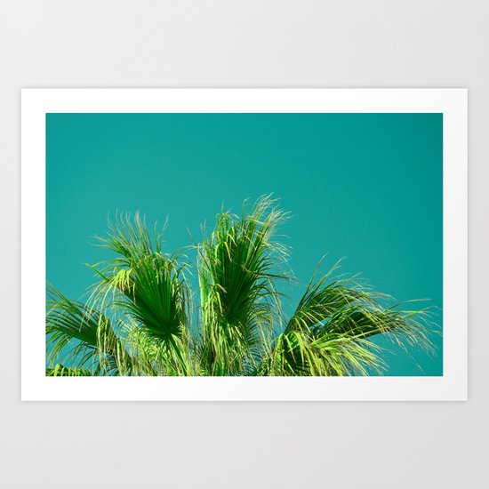 Palms on Turquoise Art Print