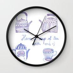 Decorative teapots Wall Clock