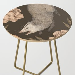 The Opossum and Peonies Side Table