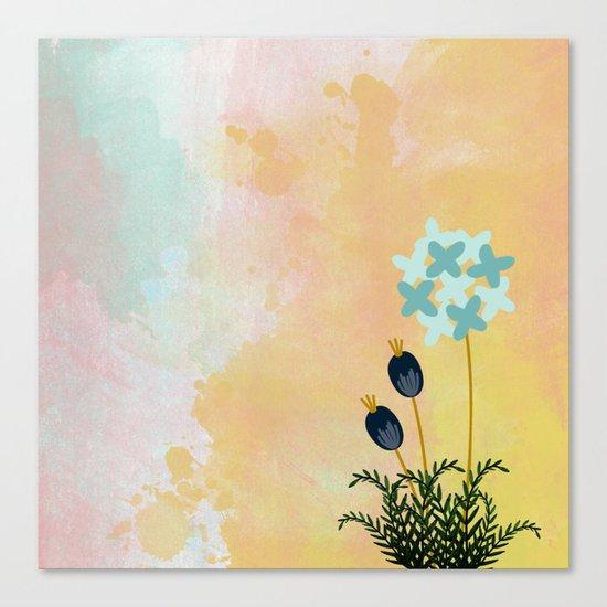Acuarela Blue Flower 2 Canvas Print