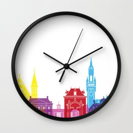 The Hague skyline pop Wall Clock