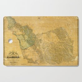 Map of Alameda 1857 Cutting Board