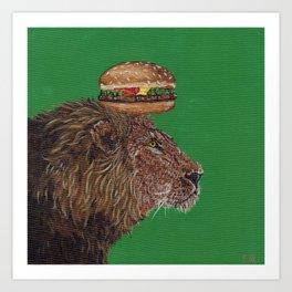 Lion Burger, the BurgerKING Art Print