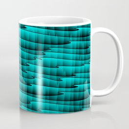 Square cross light blue lines on a dark tree. Coffee Mug