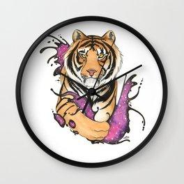 Galactic Tiger! Wall Clock